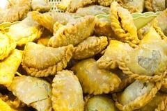 酥脆油煎的豌豆粉末页东西糖 免版税库存图片