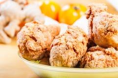 酥脆炸鸡混合用草本和香料 免版税库存图片
