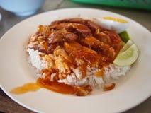 酥脆猪肉米 免版税库存图片
