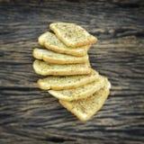 酥脆蒜味面包 库存照片