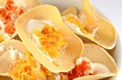 酥脆薄煎饼种类泰国蜜钱 免版税图库摄影