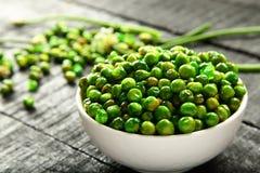 酥脆被烘烤的印地安快餐加香料的绿豆 免版税库存图片
