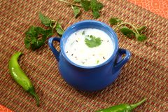 酪乳或旁遮普语Lassi,印地安饮料 库存照片