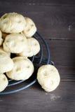 酵母小圆面包 免版税库存照片