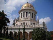 酵母酒蛋糕寺庙在市海法在以色列 免版税图库摄影