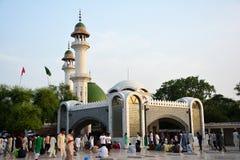 酵母酒蛋糕Bulleh Shah坟茔/寺庙在卡苏尔,巴基斯坦 免版税库存照片