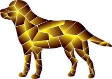 酷的狗设计 金子颜色 库存例证