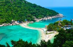 酸值的Nang元,泰国被分离的海 免版税库存图片