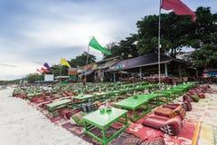 酸值的Samed,泰国海滩餐馆 免版税库存图片