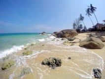 酸值苏梅岛泰国天堂海岛 免版税图库摄影