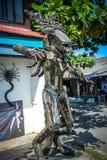 从酸值苏梅岛的非凡纪念品 金属化人 免版税库存图片