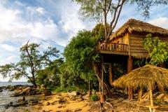 酸值荣海岛,柬埔寨2015年9月 库存照片