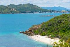 酸值西康省海滩在夏天,芭达亚,春武里市省,泰国 库存图片