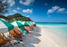 酸值陶海岛泰国Nang元海岛看法  免版税库存图片