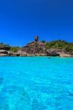 酸值8, Similan海岛国家公园,攀牙府,南泰国 白色海滩,美丽的水 免版税图库摄影