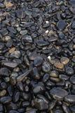 酸值hin ngam的,Tarutao国立公园,Satun,泰国湿黑小卵石石头海岛 免版税库存照片