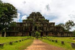 酸值Ker寺庙,暹粒柬埔寨2015年9月 免版税库存图片
