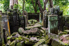 酸值Ker寺庙,暹粒柬埔寨2015年9月 库存图片