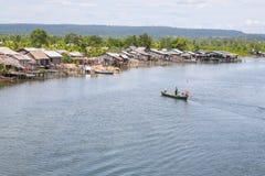 酸值kong省在泰国边界附近的柬埔寨王国 免版税图库摄影