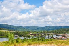 酸值kong省在泰国边界附近的柬埔寨王国 免版税库存照片