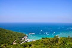 酸值larn海岛芭达亚市泰国 库存照片