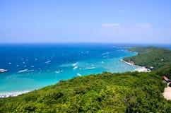 酸值larn海岛芭达亚市泰国 图库摄影