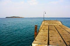 酸值larn码头 库存照片