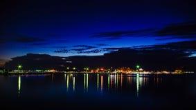 酸值Loi,泰国夜场面  库存图片