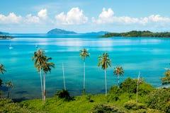 酸值Mak在Trat的海岛观点泰国夏季的 免版税库存照片