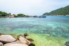 酸值Nang元海岛的海 库存照片