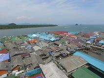 酸值Panyee村庄,天堂在水中 库存图片