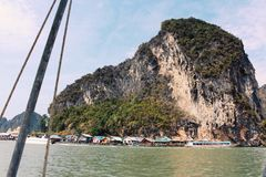 酸值Panyee海岛, Phang Nga,泰国 免版税图库摄影