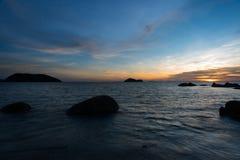 酸值Phangan泰国日落视图  免版税库存图片