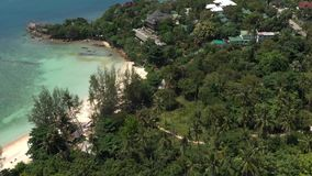 酸值Phangan海岛,泰国鸟瞰图  影视素材