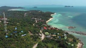 酸值Phangan海岛,泰国鸟瞰图  股票视频