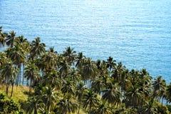 酸值Phangan海视图  免版税图库摄影
