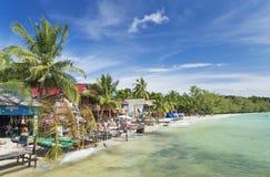 酸值rong海岛在柬埔寨 免版税库存照片