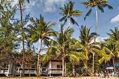 酸值Samui,泰国 热带海滩的横向 免版税库存照片