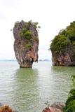 酸值Tapu石灰石海运泰国 免版税库存照片