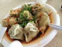 酸和辣中国饺子 免版税库存图片