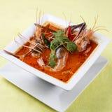 酸和辣虾汤 免版税库存图片