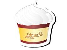 酸奶传染媒介例证 免版税库存图片