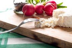 酸奶干酪和萝卜 库存图片