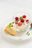酸奶干酪用莓 免版税库存照片