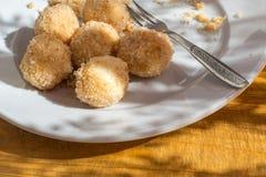 酸奶干酪饺子 图库摄影