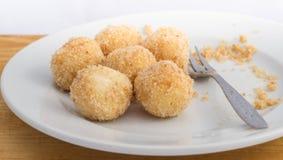 酸奶干酪饺子 免版税库存照片