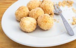 酸奶干酪饺子 库存图片