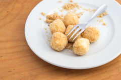 酸奶干酪饺子 免版税库存图片