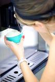 酸奶服务的冰淇凌 免版税图库摄影