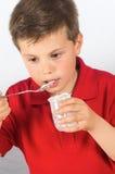 酸奶17的孩子 库存照片